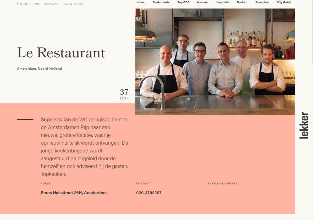 Lekker-restaurants